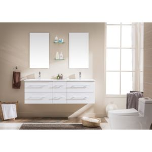 soldes concept usine ensemble meuble salle de bain 39 venus b 39 2 vasques 2 miroirs blanc pas. Black Bedroom Furniture Sets. Home Design Ideas
