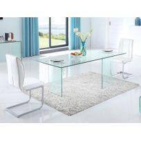 marque generique table manger coledon 8 couverts verre tremp - Table En Verre Salle A Manger