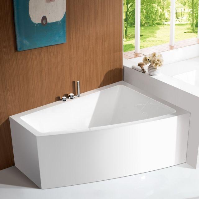 rue du bain baignoire d 39 angle bain douche asym trique. Black Bedroom Furniture Sets. Home Design Ideas