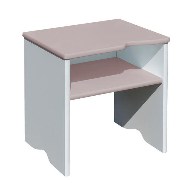 Bebe Gavroche Tabouret et Table de chevet 2 en 1 Taupe 115 x 50 x 35 cm