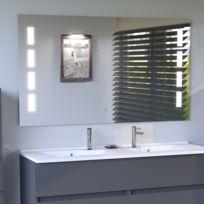 Bon CREAZUR   Miroir LED Anti Buée PRESTIGE 120x80 Cm   Avec Interrupteur  Sensitif