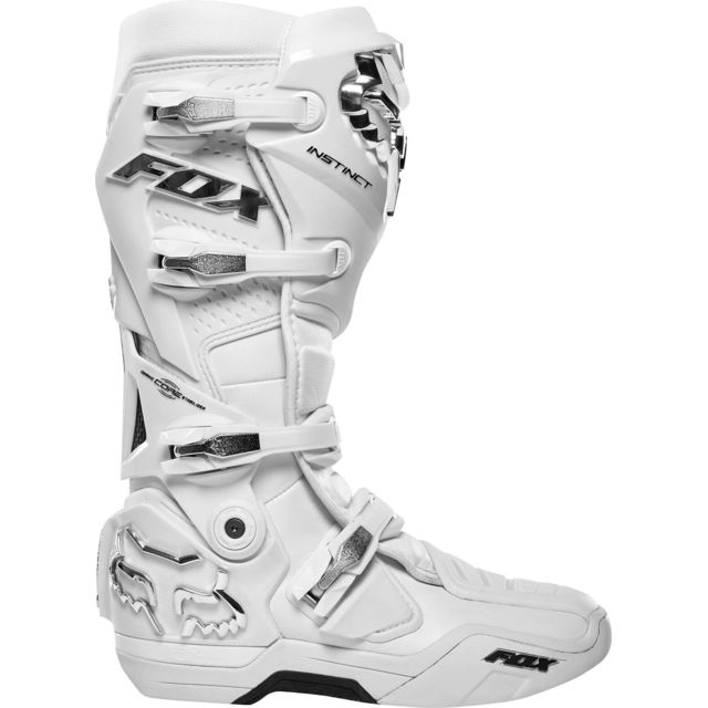 Bottes Moto Cross Instinct White Silver 44