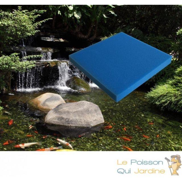 Le Poisson Qui Jardine Mousse Bleue : 50 X 50 X 3 fine pour filtration bassin et aquariums 30 ppi