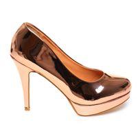 b1a2f13246024 Lamodeuse - Escarpins Grande Taille doré rose vernis Stiletto. Plus que 4  articles