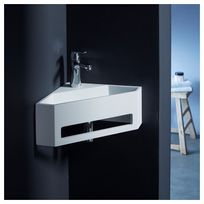 Planetebain - Lave mains d'angle scala pour wc en solid surface