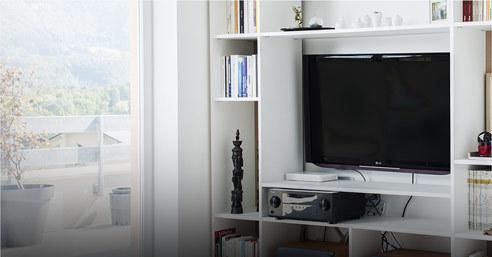 Bibliothèque TV sur-mesure