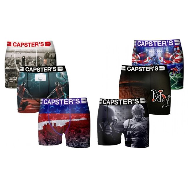 Capster'S Official Boxers Homme Capster Lot x 6