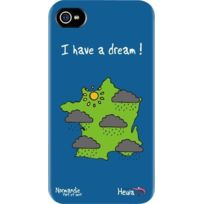 Hihihi - Coque rigide Normandie I have a dream bleue pour Apple iPhone 4/4S