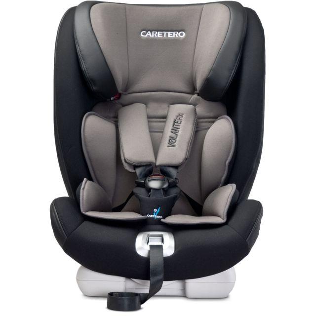 Caretero - Siège auto groupe 1/2/3 bébé enfant 9-36 kg Volante Isofix | Graphite