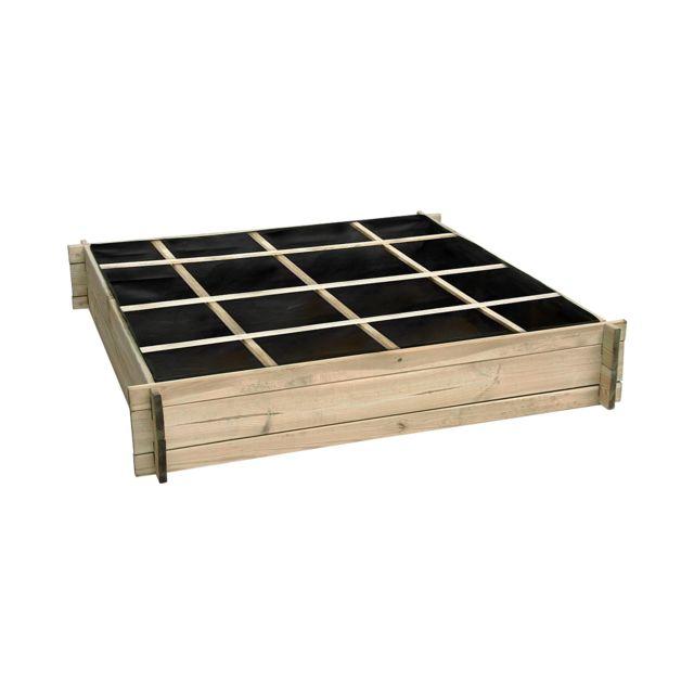 Cemonjardin - Carré potager divisé en bois grand modèle 1.34