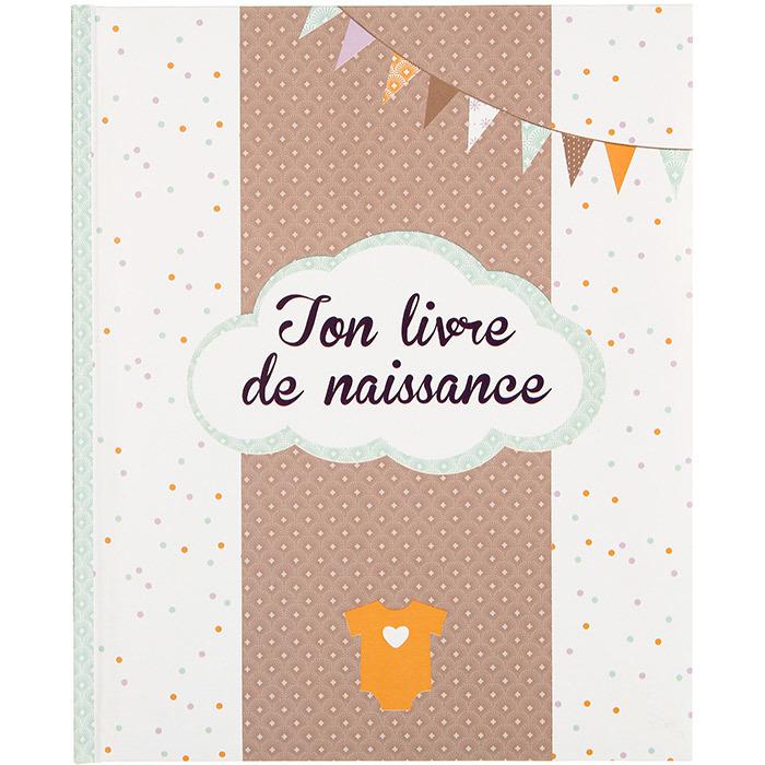Livre de naissance - Album Naissance Textes Photos - 56 pages - Garçon