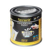 Securit - Peinture Ardoise pour créer votre propre tableau sur tout support - 250 ml