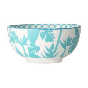 Bruno Evrard - Coupelle en porcelaine décor tropical 15,5cm - Lot de 4 - Porcelaine - Multicouleurs