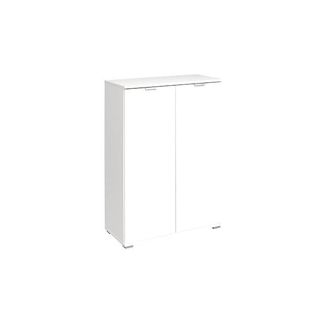 Commode 2 portes 71x101x35 cm blanc
