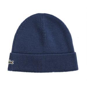 Lacoste , Homme , Bonnet à revers en laine bleu philipines Rb3502