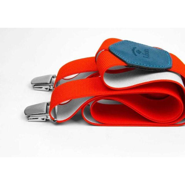 Les Bretelles De LÉON Bretelles Larges Rouge Infrarouge - Les Bretelles de Léon