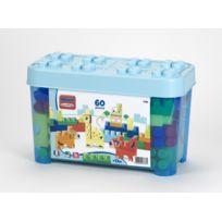 ABRICK - MAXI - Baril briques animaux bleu - 60 pièces - 7783