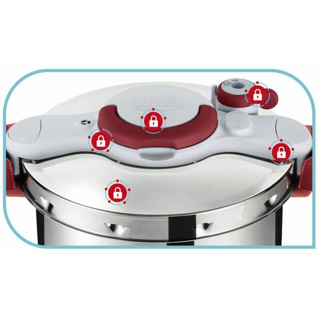SEB - Autocuiseur CLIPSO MINUT EASY 7,5L Rouge - P4624817