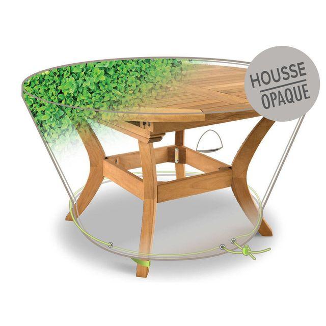 JARDIDECO Housse de protection pour table ronde Ø120 x 50 cm feuillages