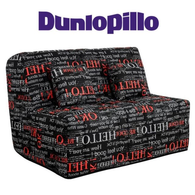 inside 75 canap convertible bz love imprim syst me slyde matelas dunlopillo 15cm couchage. Black Bedroom Furniture Sets. Home Design Ideas