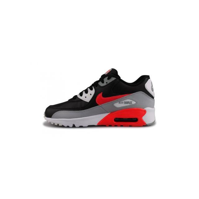 Nike Basket Air Max 90 Ltr Junior Noir 833412 024 pas