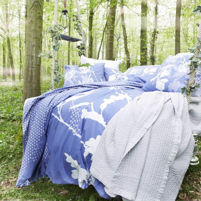 essix taie d 39 oreiller sherwood en coton bleu 50 x 75 cm pas cher achat vente taies d. Black Bedroom Furniture Sets. Home Design Ideas