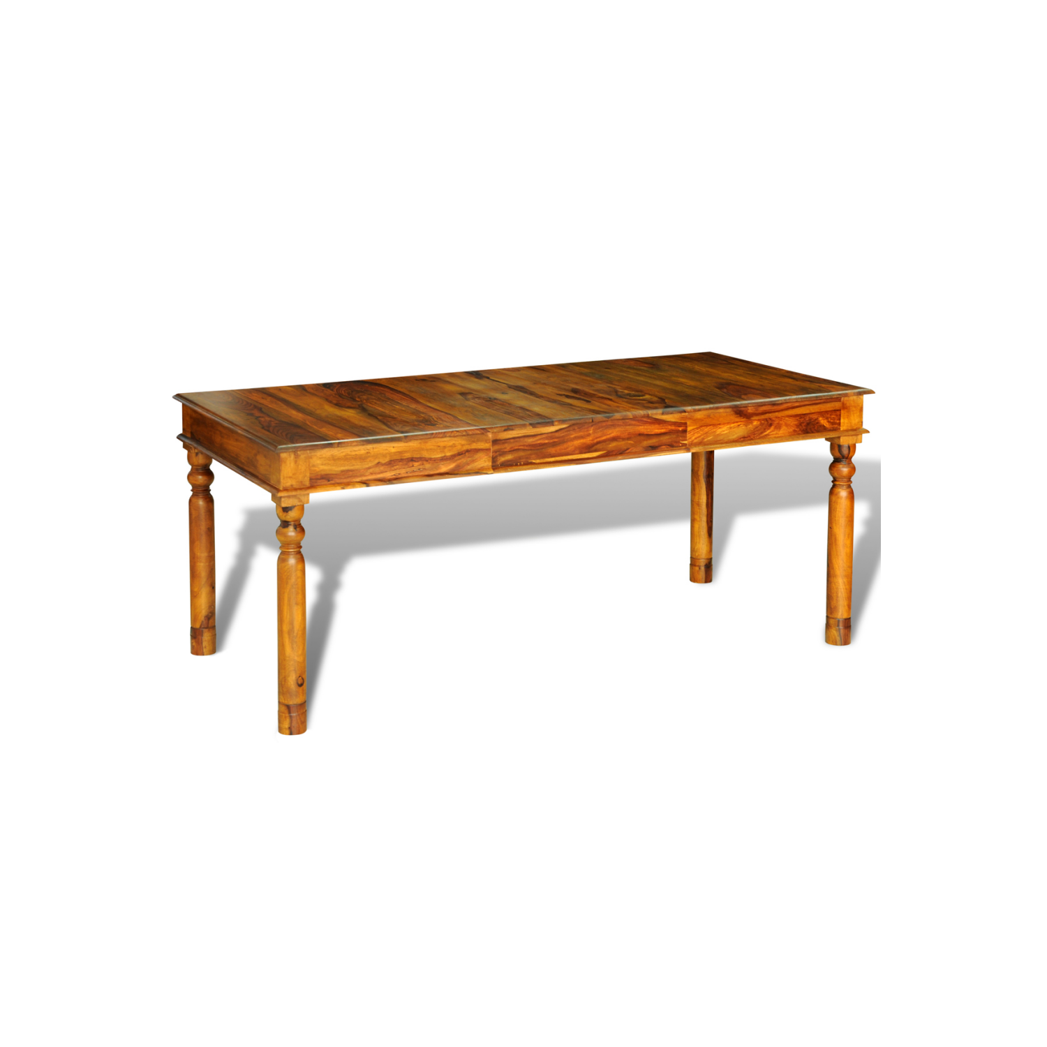 Rocambolesk - Superbe Table style colonial en palissandre massif 180 x 85 x 76 cm Neuf