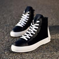 cf0925519776 Wewoo - Chaussures Fashion Tête ronde Couleur Pure Haut-top Pu Casual pour  hommes Couleur