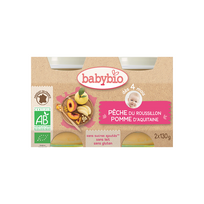 Babybio - Pots Péche Pomme dés 4 mois