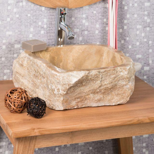 Wanda Collection - Vasque de salle de bain à poser en pierre ...