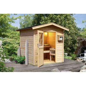 karibu sauna exterieur 13 m3 bosse 38 mm avec vestibule pas cher achat vente appareil. Black Bedroom Furniture Sets. Home Design Ideas