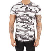 Project X - Tee shirt camouflage homme Paris 88171155, Taille: Xl, Couleur: Blanc