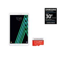 Samsung - Galaxy Tab A6 - SM-T580NZWAXEF - Wifi - Blanc + MICRO SD EVO PLUS Classe 10 - 128 Go