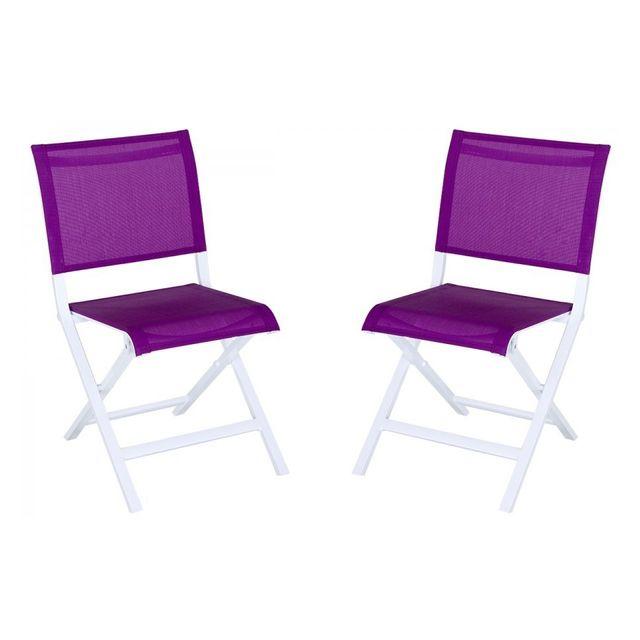 Montezalo Violet 2 chaises Lot Hespéride de pliantes Yyf7vIb6g