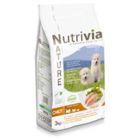 Nutrivia - Croquettes au Poulet pour Chiot - Nature - 3Kg