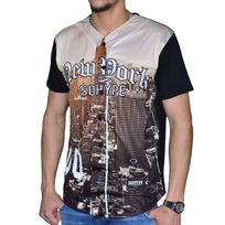 Sohype - So Hype - Chemise Tshirt - Homme - Baseball New York - Noir