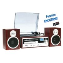 INOVALLEY - CHAINE RETRO AVEC LECTEUR VINYLES , K7 CD, MP3