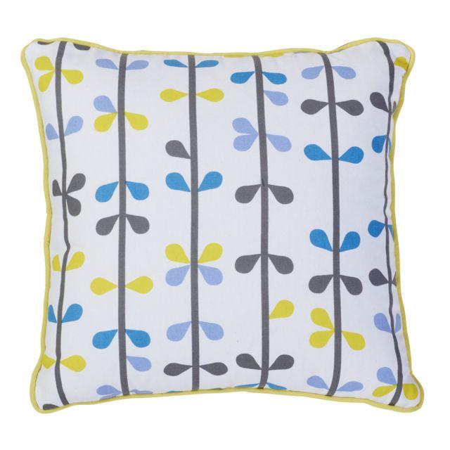 TEX HOME - Coussin motif Bleu - 30cm x 40cm