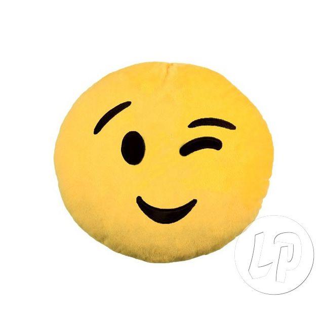 Coolminiprix Lot de 3 - Coussin émoticone visage clin d'oeil 27cm - Qualité Ce produit est vendu par lot de 3 pièces.Même si sur la photo il y a plusieurs pièces, vous recevrez 3 unités - Lot de 3 - 1x coussin émoticone visage clin d'oeil. diamètre 27cm.