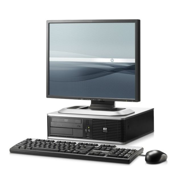 Lot Pc Compaq Dc7800 Sff Pentium Dual Core 1 8Ghz 2Go 500Go Xp Pro + Ecran  17