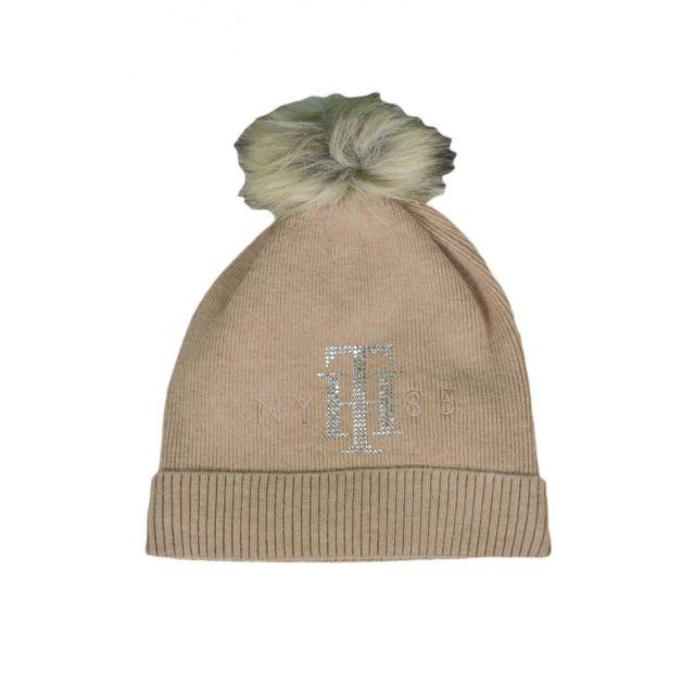 Tommy Hilfiger - Bonnet strass beige pour femme - pas cher Achat   Vente  Casquettes, bonnets, chapeaux - RueDuCommerce a4a610b0783