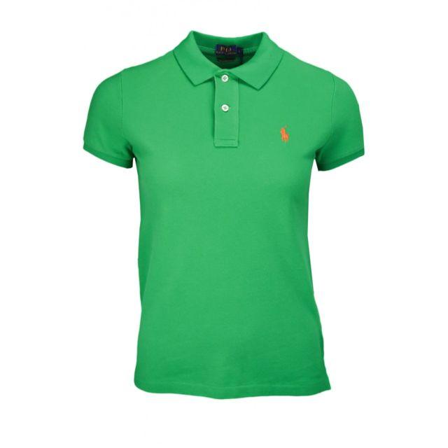 Ralph Lauren - Polo basique vert pour femme XL - pas cher Achat   Vente Polo  femme - RueDuCommerce 3df695fd19a
