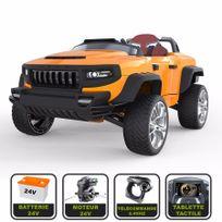 Cristom - 4x4 électrique de luxe 24V pour enfant Henes Broon T870 tablette tactile, télécommande Bluetooth ® orange