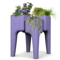 Hurbz - Jardinière multi-pots violet Kiga M en polypropylène