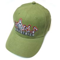 World Industries - Casquette Flexfit Fireskull Olive