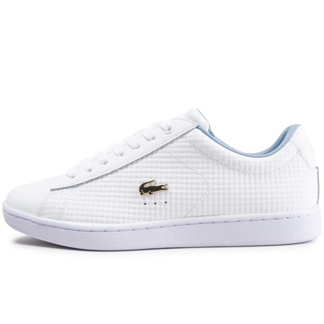 7b18aacdafe8 Lacoste - Carnaby Evo Blanche Et Bleue 41 - pas cher Achat / Vente ...