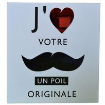 Atmosphera - Cadre imprimé Mystery - 24 x 24 cm J'aime votre moustache