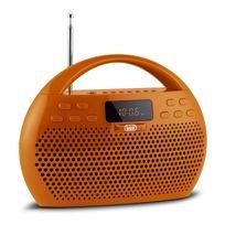 Trevi - Kb 308 Bt Radio boombox numérique bluetooth micro Sd Usb -orange