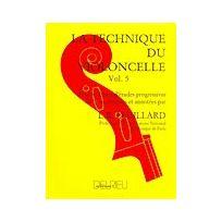 Edition Delrieu - Méthodes Et Pédagogie Feuillard Louis R Technique Du Violoncelle Vol.5 Violoncelle