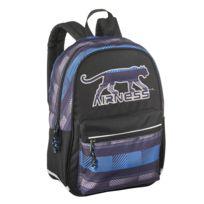Airness - Sac à dos noir et bleu - 1 Compartiment - L 43cm